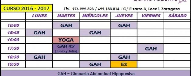 NUEVOS HORARIOS DE CLASES GRUPALES PARA JULIO